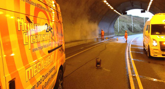 Tunnel Steam Cleaning